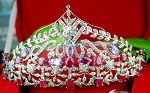 Tiara For Sale 5.77 Ct Certified Diamond Amethyst Ruby Emerald Diamond Tiara